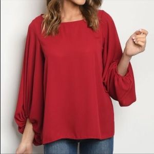 🆕Beautiful Ruby Relaxed Puff Sleeve Top